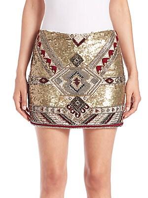 Elana Embellished Mini Skirt