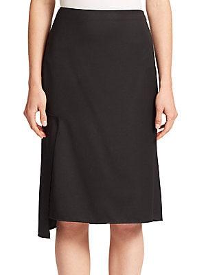 Broken Line Wool Skirt