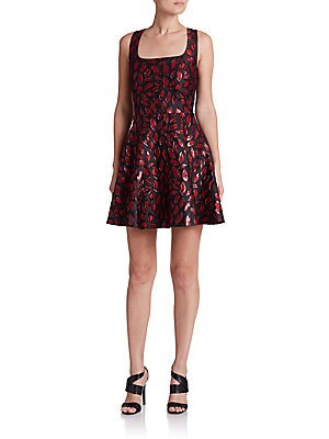 Minnie Printed Fit-And-Flare Dress