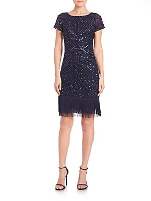 Beaded Fringe-Hem Dress