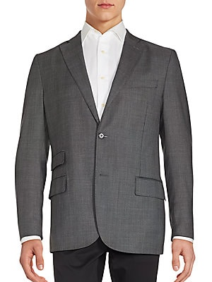 Donnie Tow-Button Wool Sportcoat