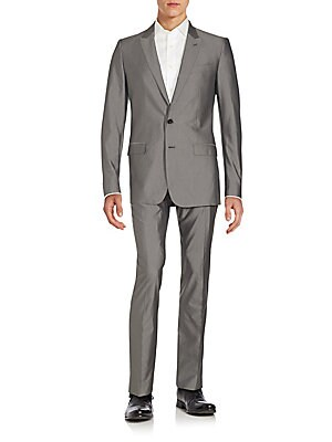 Regular-Fit Cotton & Silk Suit