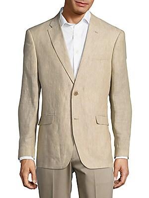 Regular-Fit Linen Blazer