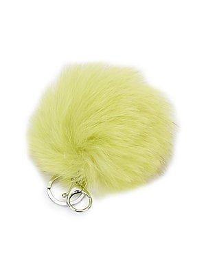 Fox Fur Pom Pom Bag Charm