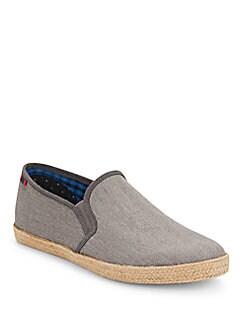 Jenson Canvas Espadrille Slip-On Sneakers