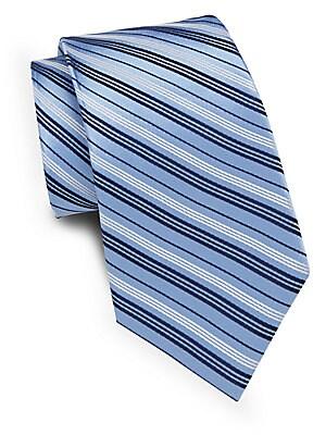 Two-Tone Striped Silk Tie