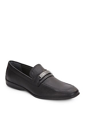 Vick Tumbled Leather Loafers