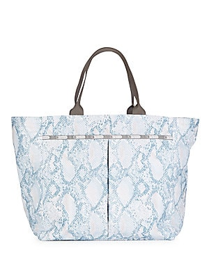 Deluxe Everygirl Snake-Print Tote