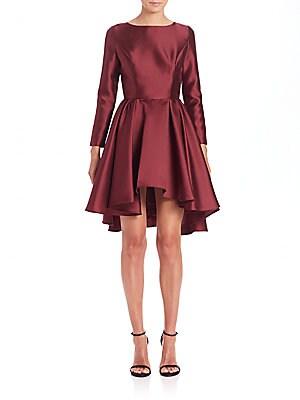 Satin Hi-Lo Dress
