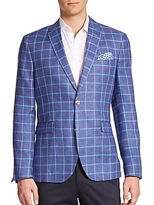 Windowpane Linen Sportcoat