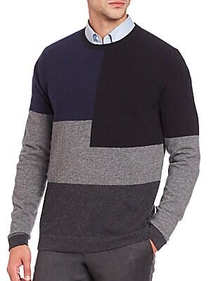 Cashmere Colorblocked Crewneck