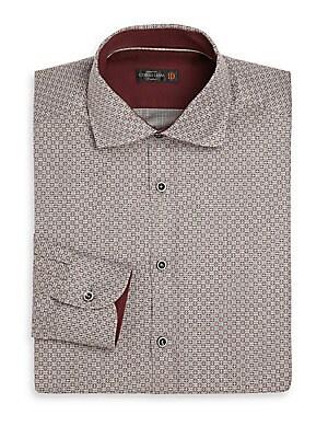 Circle Print Dress Shirt