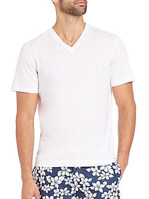 michael kors male 45883 jersey cotton vneck tshirt