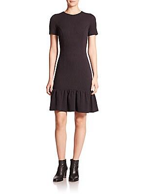 Bryn Textured Ruffle Dress