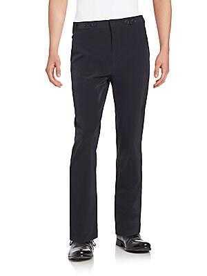 Button-Tab Pants