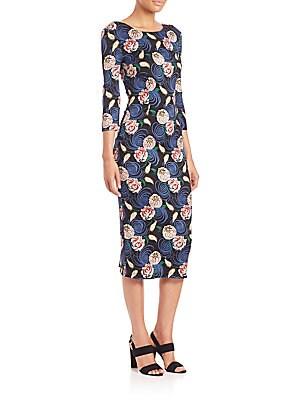 Backless Floral-Print Dress