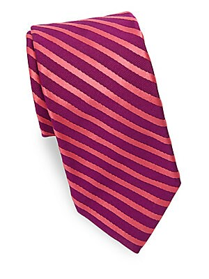 Narrow Repeating Striped Tie