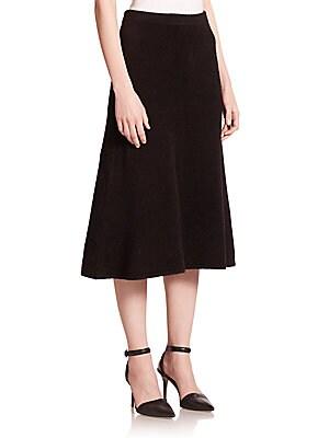 Chenille Jersey Midi Skirt