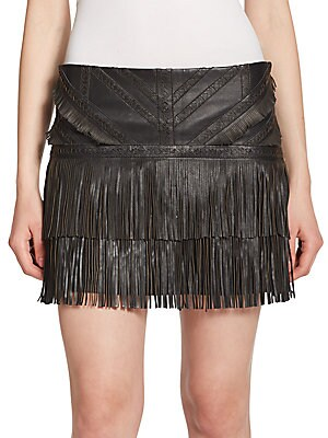 Killington Fringe Lambskin Skirt