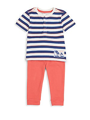 Baby's Striped Top & Pants Set