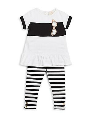 Baby's Sunglass Tunic & Striped Leggings Set