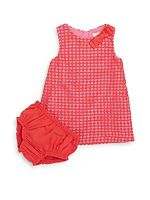 Baby's Guipure Lace Shift Dress & Bloomers Set