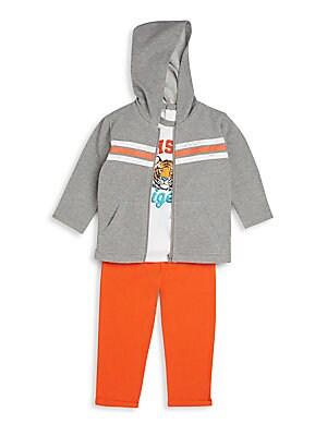 Baby's Three-Piece Hoodie, Tee & Pants Set