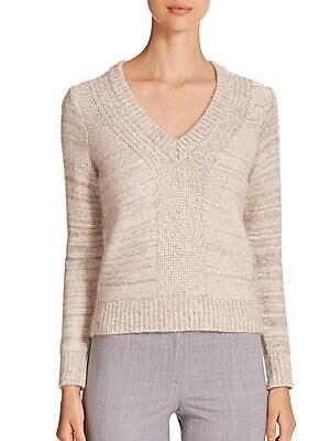 Knit Paillette-Detail Sweater
