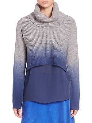 Raleigh Ombre Double-Layer Sweater