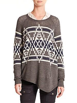 Brenda Printed Asymmetrical Sweater