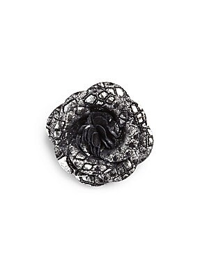 Metallicized Leather Lapel Pin