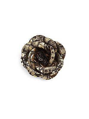 Metallicized Leather Lapel Pin