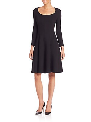 Beyao Diamond Knit Fit-and-Flare Dress