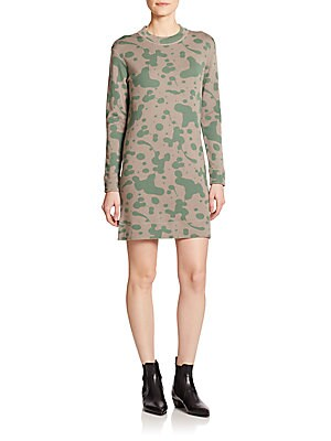 marc jacobs female oil drop printed wool dress