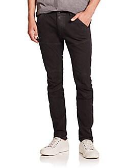 Super Slim-Fit Moto Jeans