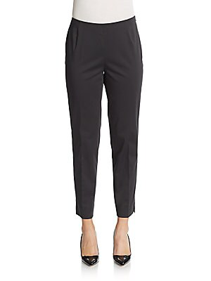 lafayette 148 new york female sidezip cropped pants