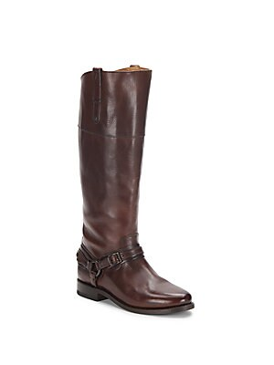 Abbey Tall Leather Harness Boots