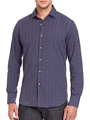 Faded Windowpane Check Shirt