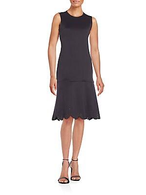 Laser-Cut Neoprene Dress