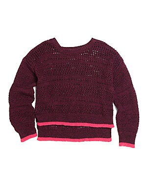 Little Girl's Marled Knit Sweater