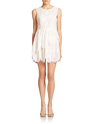 Charlee Tiered Lace Dress