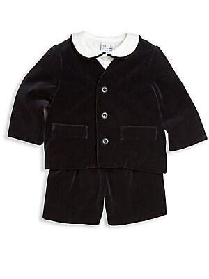 Baby's Three-Piece Shirt & Velvet Suit Set