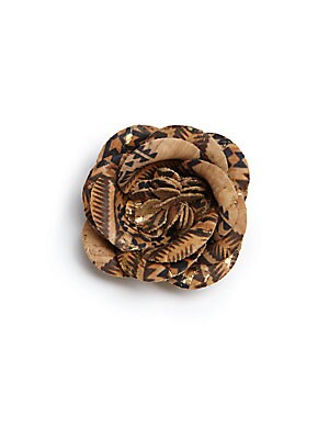 Cork Flower Lapel Pin