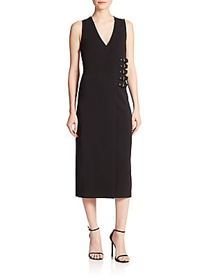 Cullen Buckle Wrap Dress
