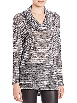 Upstate Striped Cowlneck Top