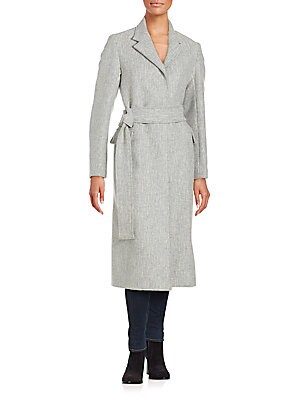 Two-Tone Wool-Blend Coat