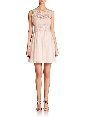Lace-Bodice Bridesmaid Dress