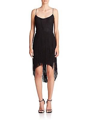 Fringe High-Low Dress