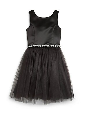 Little Girl's & Girl's Satin & Net Dress
