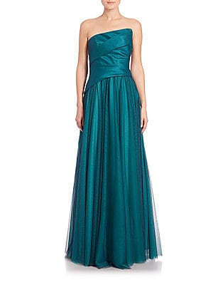 Ruched Combo Gown